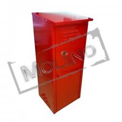 Шкаф для газового баллона ПЕТРОМАШ на 1 баллон 50 литров Красный