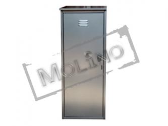 Шкаф для газового баллона ПЕТРОМАШ на 1 баллон 50 литров Серый