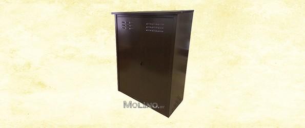 Шкаф для газовых баллонов ПЕТРОМАШ на 2 баллона 50 литров (двойной) Коричневый