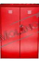 Шкаф для газовых баллонов ПЕТРОМАШ на 2 баллона 50 литров (двойной) Красный