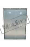 Шкаф для газовых баллонов ПЕТРОМАШ на 2 баллона 50 литров (двойной) Серый